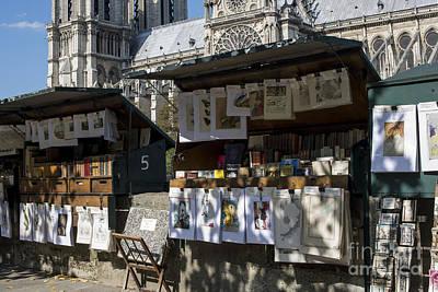 Paris Booksellers Print by Juli Scalzi