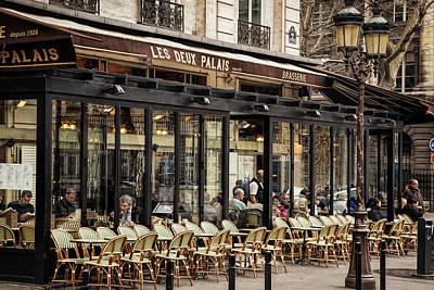 Chair Photograph - Paris Street Scene by Andrew Soundarajan