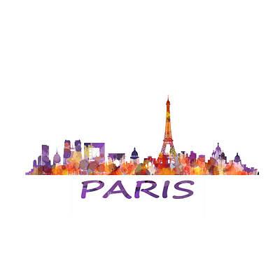 Paris Drawing - Paris City Skyline Hq  by HQ Photo