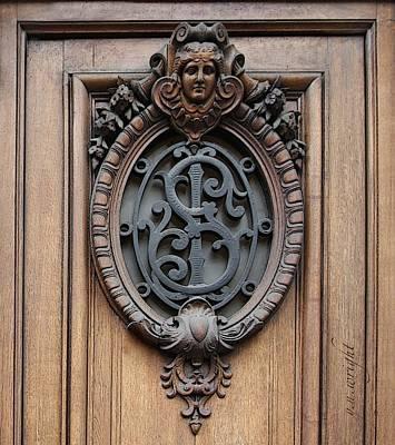 Hoodie Digital Art - Paris - 19th Century Door Ornament by Yvonne Wright