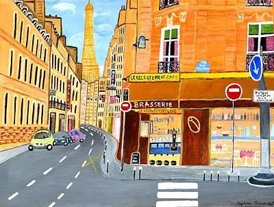 Paris France, Rue St. Dominique Print by Magdalena Frohnsdorff