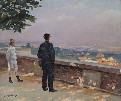 Paris From The Observatory At Meudon Print by Jules Ernest Renoux