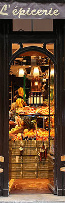 Epicerie Photograph - Paris Grocery Store by Andrew Fare