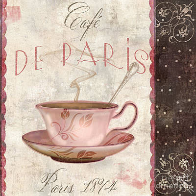 Paris Patisserie Cafe De Paris Original by Mindy Sommers