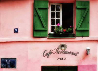 Paris Pink House Print by Georgia Fowler