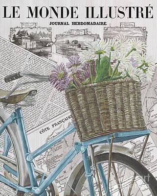 Paris Ride 1 Print by Debbie DeWitt