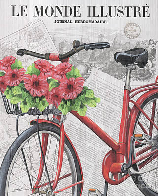 Paris Ride 2 Print by Debbie DeWitt