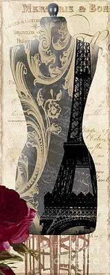 Seamstress Painting - Paris Seamstress II by Mindy Sommers