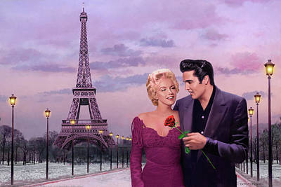 Elvis Presley Painting - Paris Sunset by Chris Consani