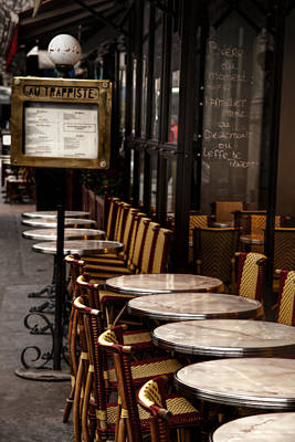 Paris Photograph - Parisian Cafe by Andrew Soundarajan