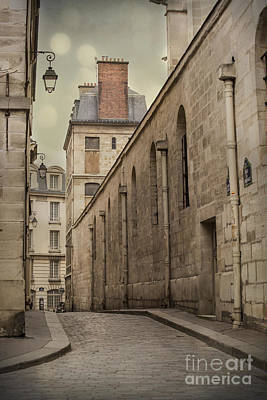 Quaint Photograph - Parisian Street by Juli Scalzi