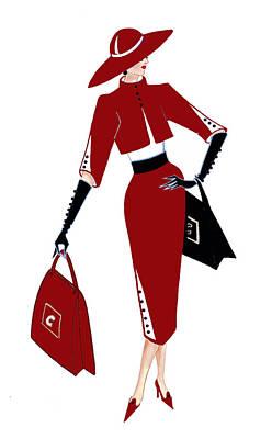 Audrey Hepburn Painting - Parisien Chic - Richelle by Di Kaye