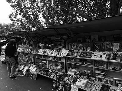 Photograph - Parisienne Bookseller by Marty Cobcroft