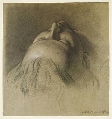 Ford Madox Brown Drawing - Parisina's Sleep. Study For Head Of Parisina by Ford Madox Brown