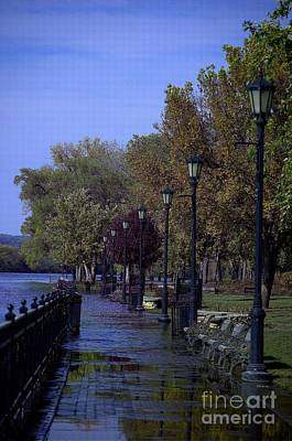 Streetlight Photograph - Park In Flood by The Stone Age