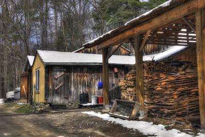 Parker's Maple Barn And Sugar House Print by Joann Vitali