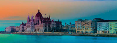Pest Digital Art - Parliament Across The Danube by Joe Houghton