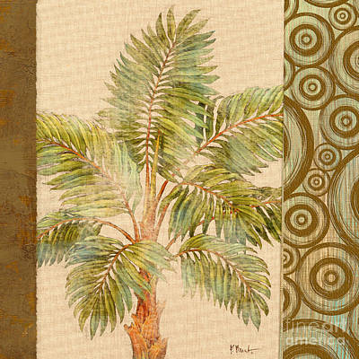 Parlor Palm II - Beige Print by Paul Brent