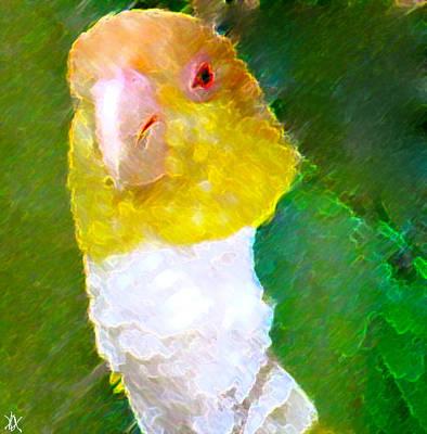 Nature An Bird Painting - Parrot Grace by Debra     Vatalaro