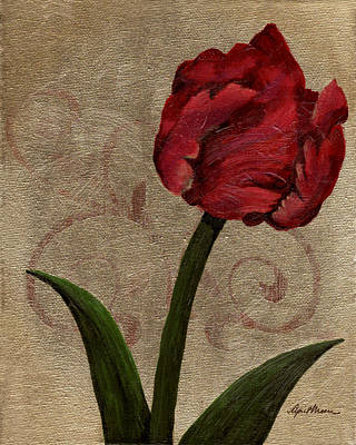 Filigree Painting - Parrot Tulip II by April Moen