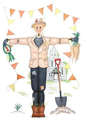 Carrot Drawing - Parson Scarecrow by Sandra Moore