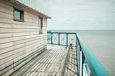 Part Of A Pier Print by Tom Gowanlock