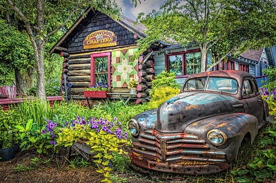 Vintage Quilt Photograph - Part Of The Garden by Debra and Dave Vanderlaan