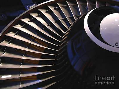 Noise Photograph - Partial View Of Jet Engine by Yali Shi