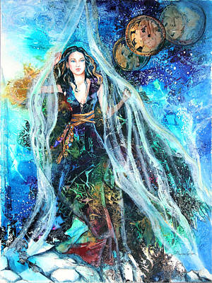 Portal Mixed Media - Parting The Veil by Patricia Allingham Carlson