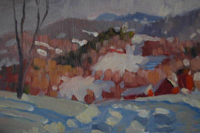 Distant Mountains Painting - Partridge Road by Len Stomski