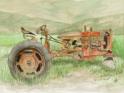 Agriculture Painting - Parts Tractor - Farmall by David King