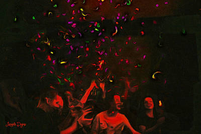 Party And Confetti - Pa Print by Leonardo Digenio
