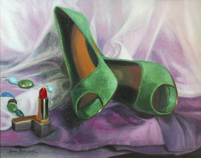 Stilettos Painting - Party Shoes by Anna Rose Bain