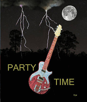 Electric Mixed Media - Party Time by Eric Kempson