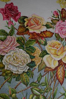 Pasadena Roses Original by Virginia Morley