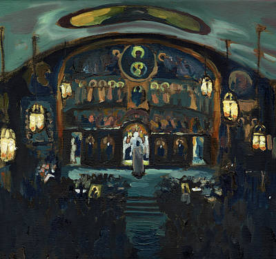 Greek Icon Painting - Pascha, St. John Orthodox Church, Memphis Tn by Laura Wilson