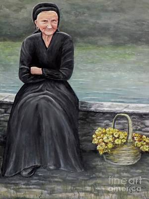 Old Woman Painting - Pasqualina Di Scanno by Judy Kirouac