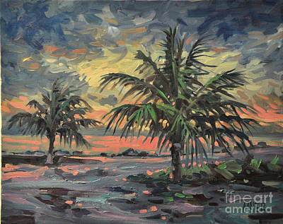 Palm Trees Painting - Passing Storm by Donald Maier