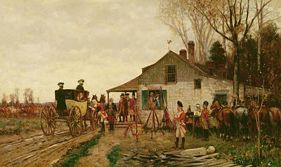 Passing The Outpost Print by Alfred Wordsworth Thompson