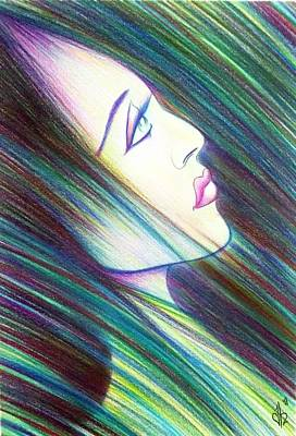 Uplifting Drawing - Passion Awakening by Danielle R T Haney