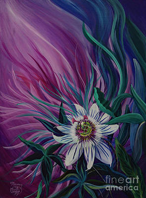 Painting - Passion Flower by Nancy Cupp