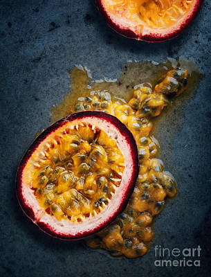 Passion Fruit Halved Print by Johan Swanepoel