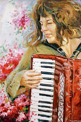 Cherry Blossoms Painting - Passionate Player by Conor McGuire