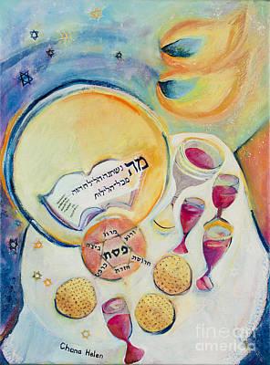 Painting - Passover Seder Night by Chana Helen Rosenberg