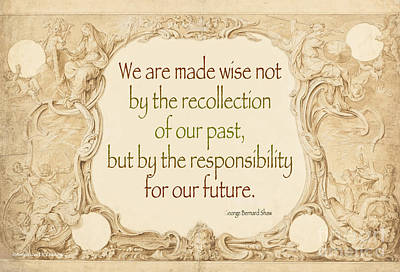 Past And Future- Quote Print by Italian Art