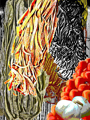 Spinach Painting - Pasta Variety by Carl Bistrack