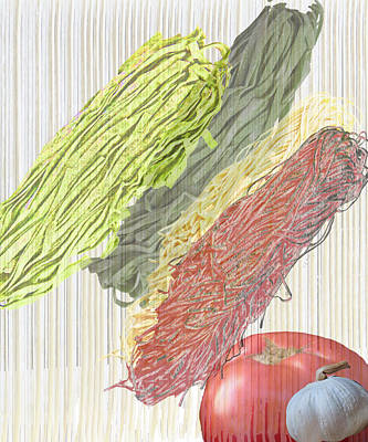 Spinach Painting - Pasta Veil by Carl Bistrack