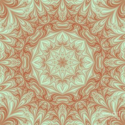 Mandala Digital Art - Pastel Fractal Mandala by Marv Vandehey