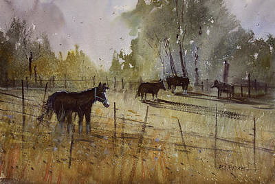 Wildlife Landscape Painting - Pastoral by Ryan Radke