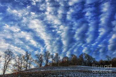 Winter Storm Photograph - Pasture Field And Winter Sky by Thomas R Fletcher